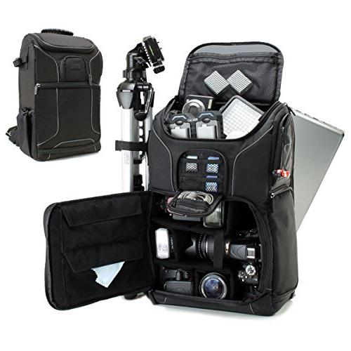 """Digital SLR Camera Backpack with 15.6"""" Laptop Compartment by"""