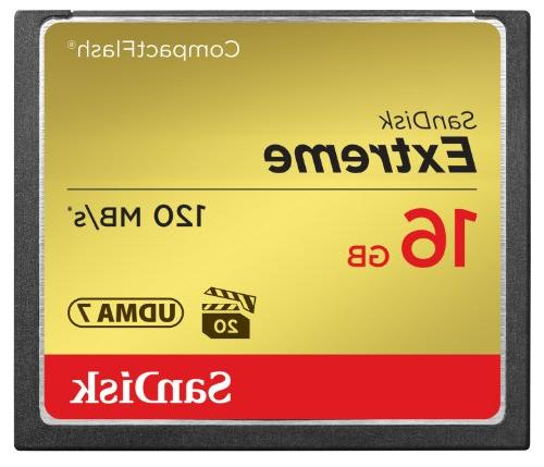 SanDisk Extreme 16GB CompactFlash Memory Card UDMA 7 Speed U