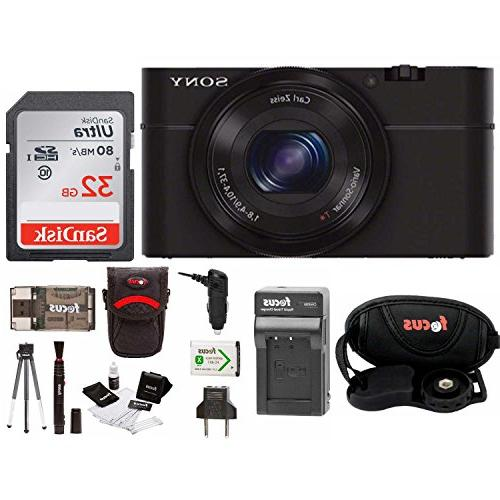 Sony Cyber-shot DSC-RX100 Digital Camera with Battery and 32