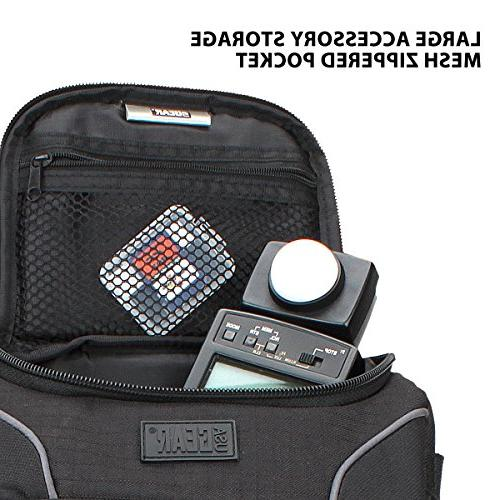 USA Backpack Case with Padded Dividers , Pockets , Support & Body Nylon Exterior , Side & Rain Cover