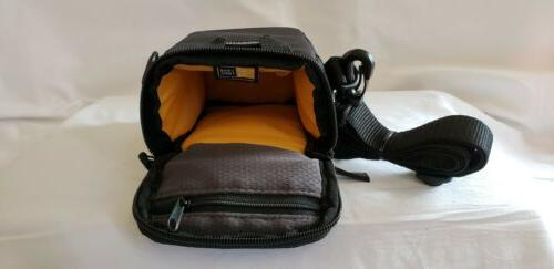 Black Case Compact With Strap Case brand NEW