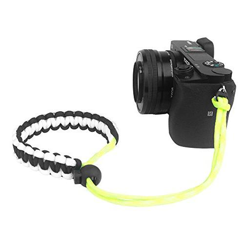Black/White/Yellow Braided 550 Paracord Adjustable Camera Wr