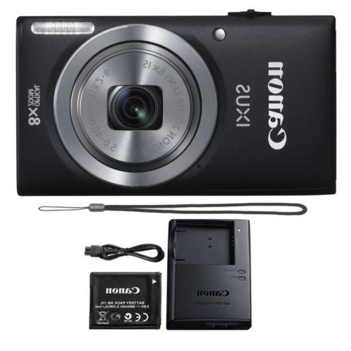 Canon IXUS 185 / ELPH 180 20MP Compact Digital Camera Black