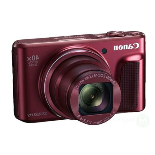 Canon PowerShot 20.3MP NFC Digital RED