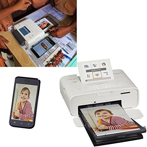 Compact Photo Canon KP-108IN Color Ink Paper + Printer + HeroFiber Ultra Cleaning