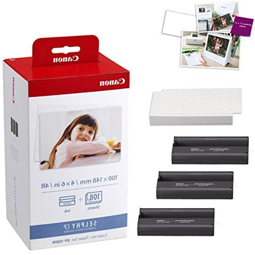 Compact + Canon Ink Paper Set + Printer + Ultra Gentle Cleaning Cloth