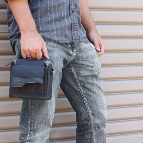 Compact Bag with , Durable Exterior & by USA GEAR - Works With Canon EOS M10 , HS and More