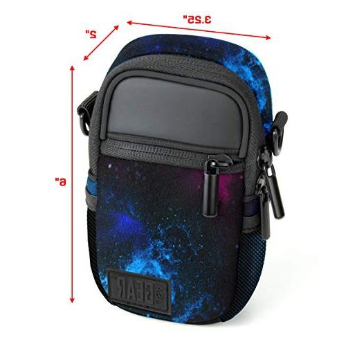 USA GEAR Case Point & Camera Bag Pockets, Rain Shoulder Compatible W/Sony Canon ELPH, COOLPIX, &