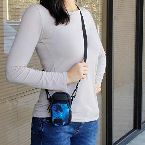 USA Case Point Camera Pockets, Cover Shoulder - W/Sony ELPH, Nikon COOLPIX, &