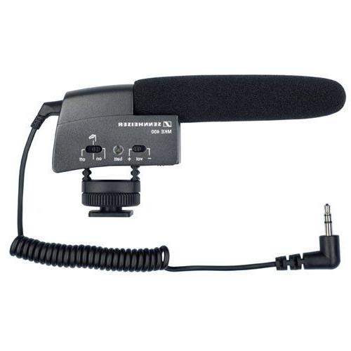 Sennheiser 400 Video Camera Microphone with MZW400 Wind-muff XLR Adapter AAA Batteries