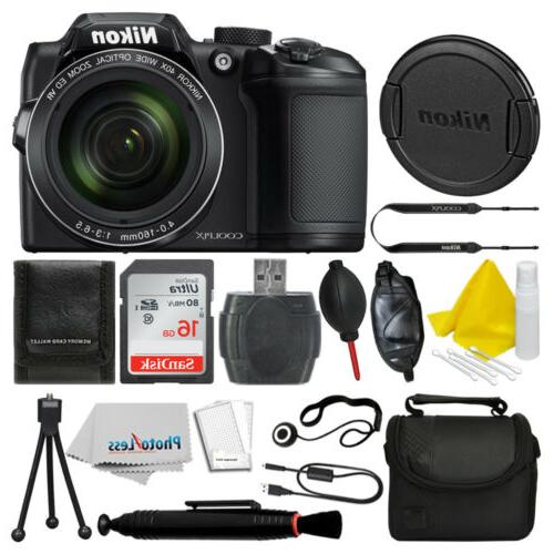 coolpix b500 16mp digital camera black 16gb