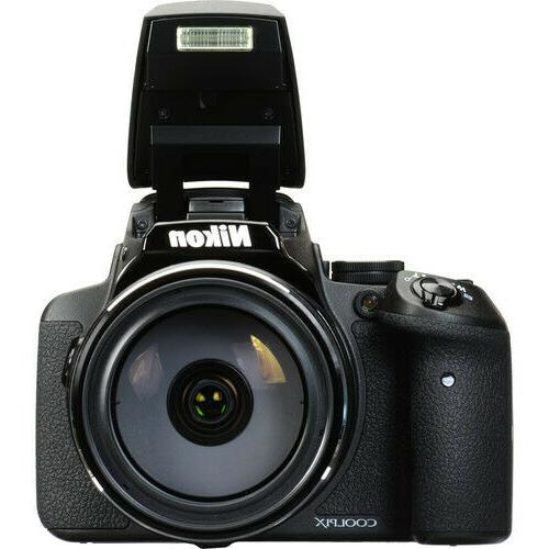 Nikon COOLPIX Camera 83x Optical Zoom and Built-In Black