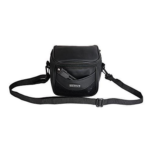 Small Faux Leather Camera Bag+Strap f/ Nikon Canon Pentax Pa