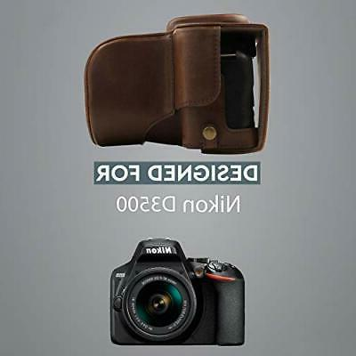 Megagear Ever Ready Leather Case and Strap -Dark Brown