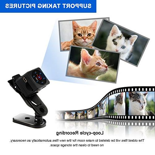 Mini Camera Video with IR Night Vision & Motion Detection, Surveillance Office Car