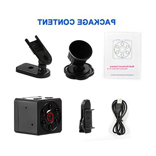 Mini Camera, Magnetic Camera 1080P with Night & Motion Detection, Small Surveillance for Home Office Car