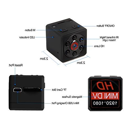 Mini Camera, Magnetic Camera Camera with Night Vision & Motion Detection, Surveillance Office Car