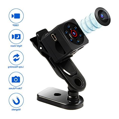 Mini Spy Magnetic DV Camera 1080P Video Camera with IR Night Vision & Detection, Surveillance for Office