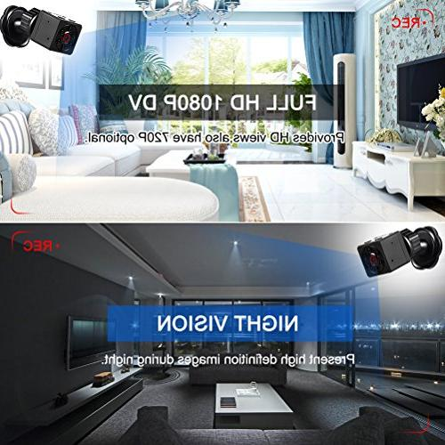 Mini Camera, Magnetic DV Camera 1080P with Night Vision & Motion Surveillance Camera for Home Office &