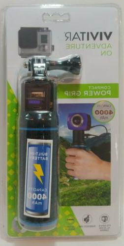 New, Sealed Vivitar Compact Power Grip. Charger W/ USB Camer