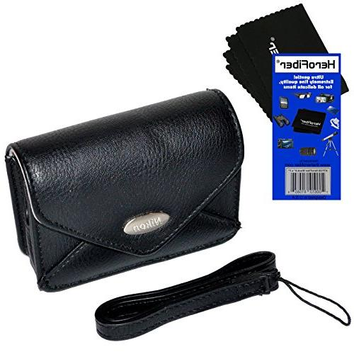 nikon leather like carrying case