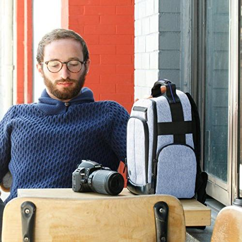 Portable Camera Backpack DSLR/SLR by with Customizable Dividers, Weather Back EOS T5 T6 - D3400