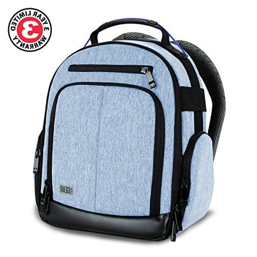 Portable Backpack for DSLR/SLR by with Customizable Accessory Weather Comfortable Back Canon EOS T6 - D3300 D3400 More