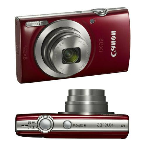 Canon PowerShot IXUS 185 / 180 20MP Compact Digital Camera Bundle