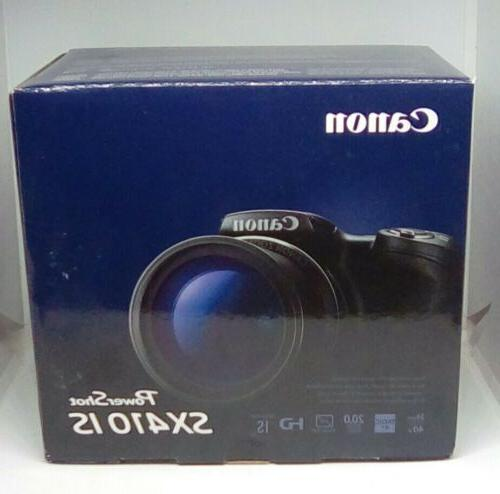 powershot sx410 is digital camera black new
