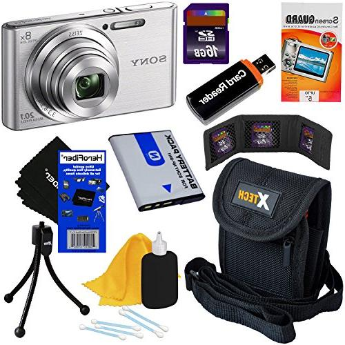sony cyber shot dsc w830 201 digital camera zoom full 720p v