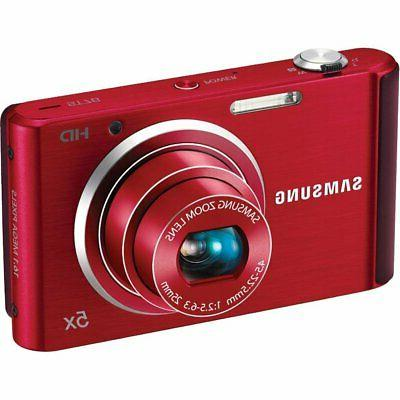 st76 16 mp compact digital camera red