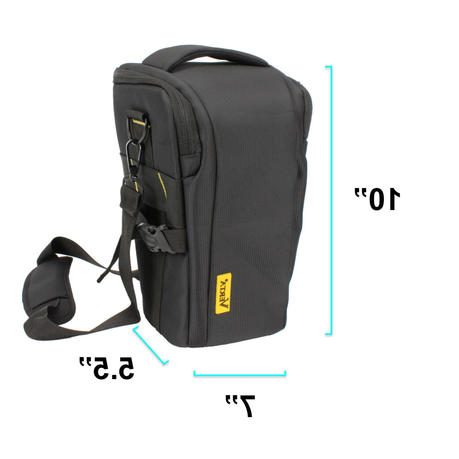 Top-Load Holster Camera Bag Compact Size SLR Lens Waist