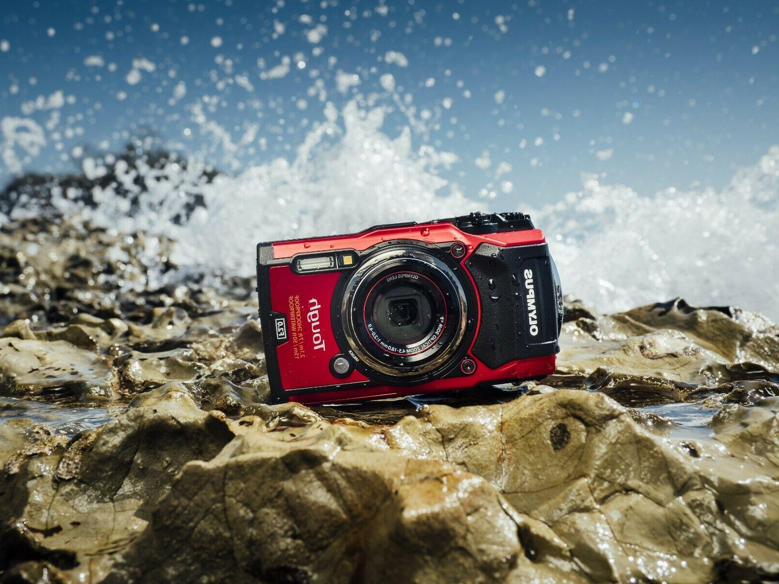 Olympus TG-5 Compact Camera - Red