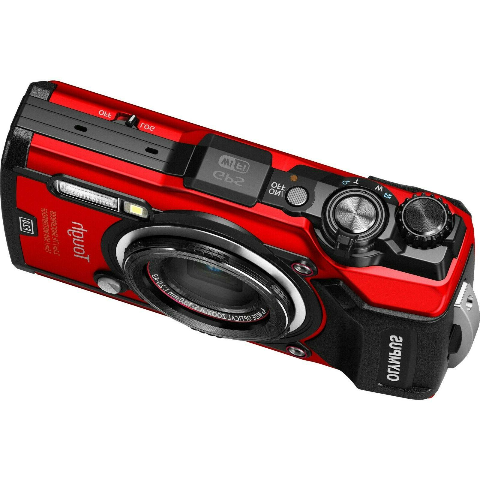 tough tg 5 digital compact camera red
