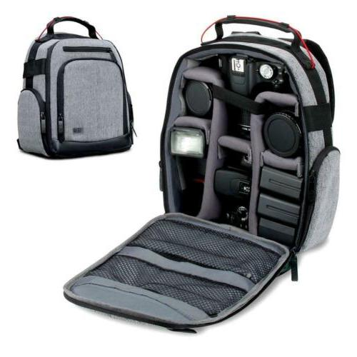 USA GEAR UBK DSLR Camera Backpack with Customizable Interior