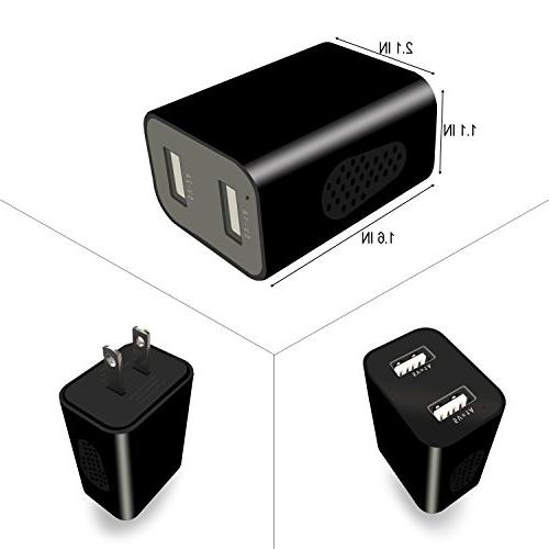 WIFI Hidden Spy Wall Charger 1080P, Recorder App View, Detection, Alarm Message, Charging Phones - Nanny