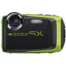 Fujifilm XP125 Waterproof Digital Camera, Graphite with Lime