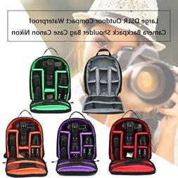 Large DSLR Outdoor Compact Waterproof Camera Backpack Should