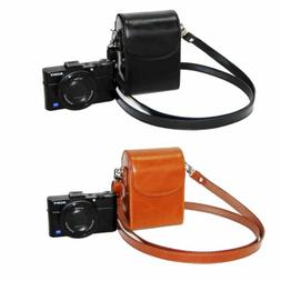 Leather Compact DC Case Camera Bag for sony DSC-RX100 HX60 H