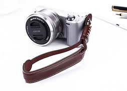CEARI Camera Leather Hand Wrist Strap Holder for Sony Alpha