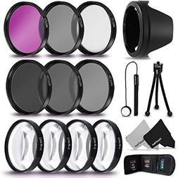 PRO 52MM Lens Filters Kit  + 52mm Close Up Macro Filters  +