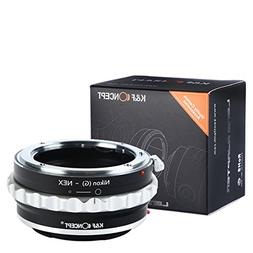 Lens Mount Adapter, K&F Concept Nikon G Mount Lens to Sony E