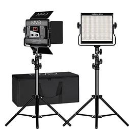 GVM 2 Pack Video Lighting Bi-color LED Video Light Variable