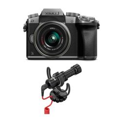 PANASONIC LUMIX G7 4K Mirrorless Camera  with Rode VideoMicr