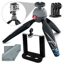 Manfrotto PIXI Xtreme Mini Table Top / Handgrip Tripod Bundl