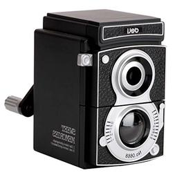BALUZ Manual Pencil Sharpener Retro Camera Design Hand-Crank
