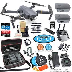 DJI Mavic Pro Drone Quadcopter Elite Combo with 3 Batteries,