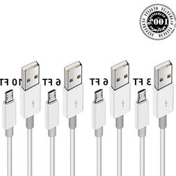 Micro USB to USB 2.0 Charging Cable, Android Phone Fast Char