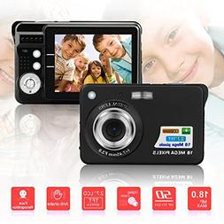 BUDPAW Mini Digital Camera HD Compact Camera 2.7 Inch TFT LC