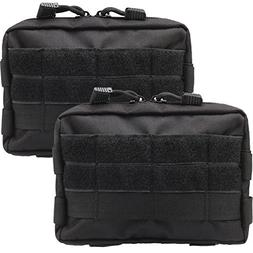Novemkada MOLLE Pouches - 2 Pack Tactical Compact Water-resi
